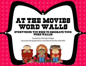 At the Movies Word Wall Packet