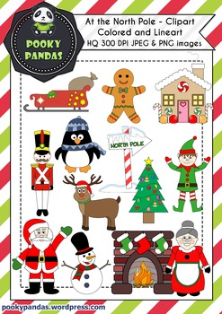 Christmas clipart - At the North Pole