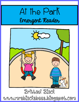 At the Park~ emergent reader