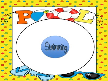 At the Pool Graphic Organizers- Great for Summer!