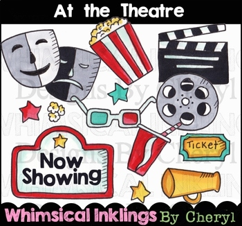 At the Theatre Clipart Collection