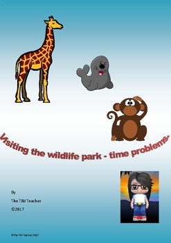 At the Wildlife Park - Problem solving with time - using a number line