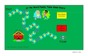 Word Family Table Game