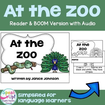 At the Zoo ~ Animal Reader & Cut & Paste {Young Readers, ESL, EFL}
