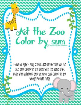 At the Zoo Color by Sum same