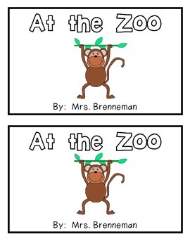 At the Zoo Emergent Reader