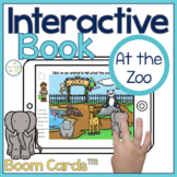 At the Zoo Interactive Book Boom Cards™️ | Speech Therapy