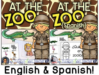 At the Zoo - Interactive Emergent Readers {SPANISH & ENGLISH}