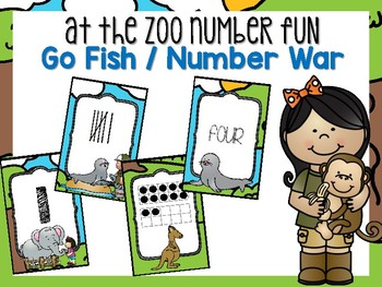 At the Zoo Number Card Game #0-20
