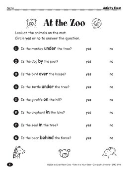 At the Zoo: Positional Words