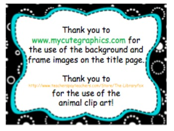 """""""At the Zoo"""" Printable Vocabulary Cards: Color + Black & White"""