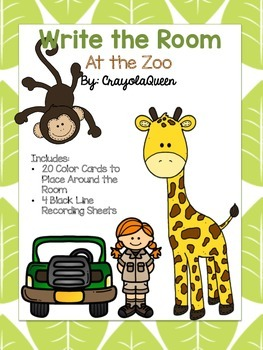 At the Zoo Write the Room