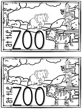 At the Zoo Writing Book