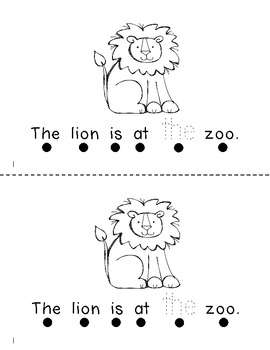 At the Zoo- a Predictable Sight Word Reader with Word Work