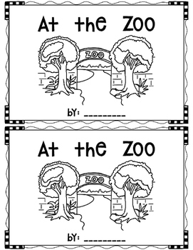 At the Zoo~ emergent reader