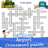 At the airport crossword puzzle