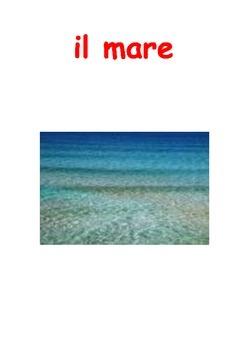 At the beach, Al Mare Italian unit of work