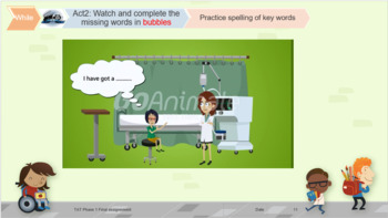 At the doctor: What's the matter ?  lesson plan