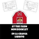 At the farm mini book (What do you see) En la granja librito (Que ves?)