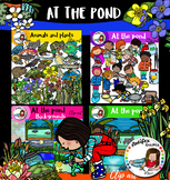 At the pond clip art- big set of 122 items!