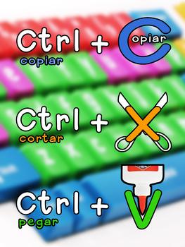 Atajos del teclado - Cortar, Copiar, Pegar