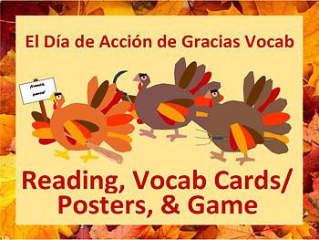 Dia de Accion de Gracias: Spanish Thanksgiving Vocab & Angry Turkeys