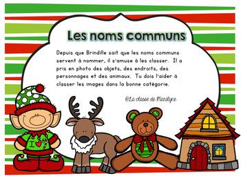 Atelier Noël: les noms communs