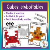 Atelier de cubes emboitables - été / FRENCH summer countin