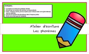 Atelier d'écriture:  Les phonèmes