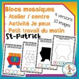 Atelier de blocs mosaïques - St-Patrick / FRENCH pattern b