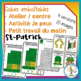 Atelier de cubes emboitables - St-Patrick / FRENCH countin