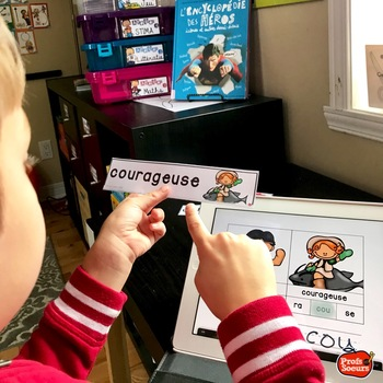 Core French Back to School Kindergarten/Literacy and STEM Center mots fréquents