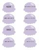 Atelier de numération, série lilas, nombres de 1000 à 5000