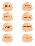 Atelier de numération, série orange, nombres de 1000 à 3000