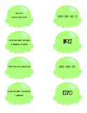 Atelier de numération, série verte, nombres de 1000-2000