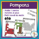 Atelier de pompons - été / FRENCH summer fuzzy pompoms activities