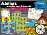Atelier jeux des mots fréquents - semaine 1
