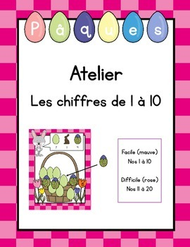 Atelier mathématique de Pâques (nombres de 1 à 10) (in French)