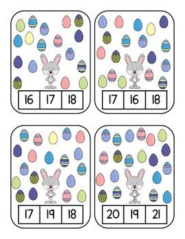Atelier mathématique (jeu) - Pâques (nombres 1 à 20)