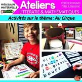 Math Maternelle / Préscolaire /Mur de mots/French Kindergarten Centers