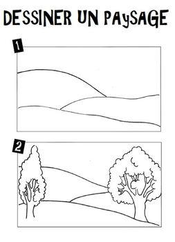 Ateliers arts plastiques dessiner un paysage tpt - Dessiner un paysage ...