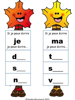 Ateliers d'automne (French printables, lecture, écriture,  French Immersion))