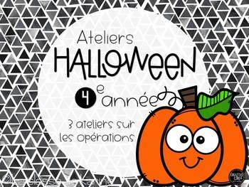 Ateliers de mathématique - Opérations - Halloween - 2e cycle