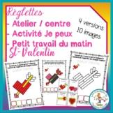 Ateliers de réglettes - St-Valentin/ FRENCH Vday cuisinair