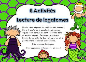Ateliers français: 6 activités: Lecture de logatomes