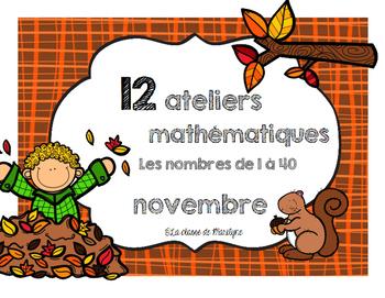 Ateliers mathématiques Novembre