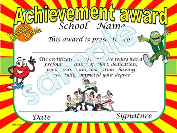Atención Atención Achievement award English / Spanish version