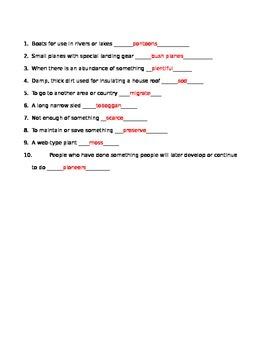 Athabascans Vocab Quiz
