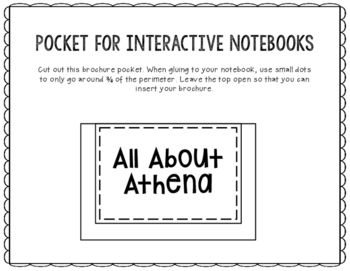 Athena - Greek Mythology Biography Research Project - Interactive Notebook