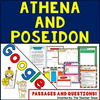 Athena and Poseidon Greek Mythology Google Drive Passages-Questions